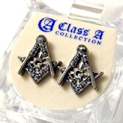 Masonic Stud Earrings